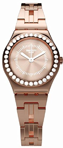 Swatch Irony Lady - Swatch Irony Kiroyal Rose Gold Dial Stainless Steel Ladies Watch YSG154G