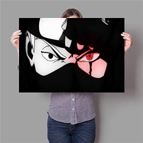 Naruto Kakashi Sasuke póster pictórico clásico japonés ...