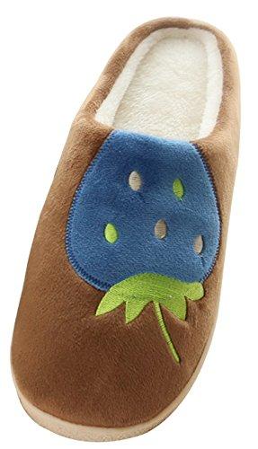 2015 Nuovi Blubi Mens Casual Fragola Pantofole A Prova Di Scivolo Casa Pantofole Pantofole Camera Da Letto Marrone