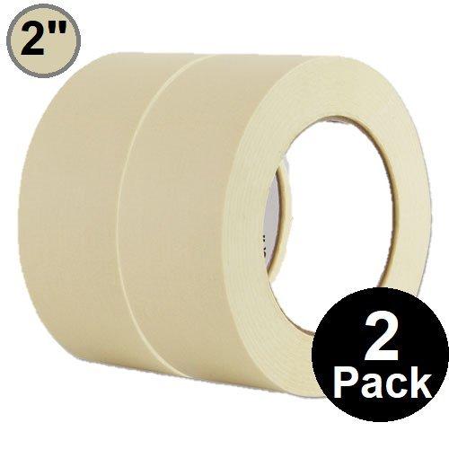 1InTheOffice General Purpose Masking Tape 2 inch x 60.1-Yards, 3 Core, 2/Pack