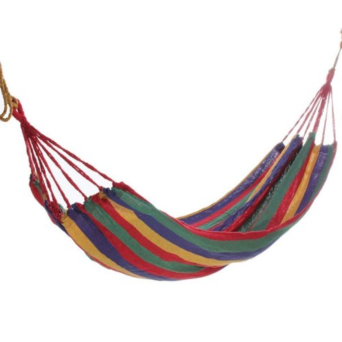 Portable Cotton Rope Hammock Swing Fabric Camping Hammock Canvas Bed by ANTS B00O003TJ0