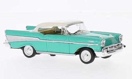 Chevrolet Bel Air Hellgrün Weiss 1957 Modellauto Fertigmodell Lucky Die Cast 1 43 Spielzeug