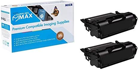 2//PK-21000 Page Yield 310-4131/_2PK SuppliesMAX Compatible MICR Replacement for Dell M5200N//W5300N Toner Cartridge