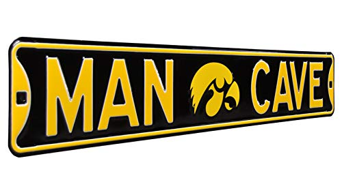 Authentic Street Signs NCAAMAN CAVE, Officially Licensed, REAL 3 Foot, Premium Grade Solid SteelEmbossed STREET SIGN- Prime Wall Decor for Home, Office, Garage- Perfect Gift for Him!! from Authentic Street Signs