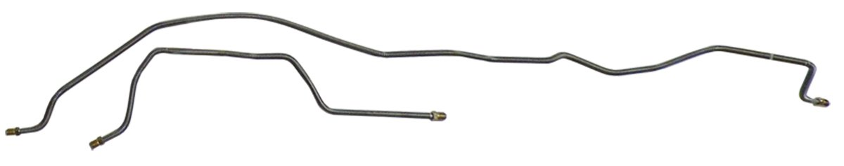 X-9-6 Compatible With 1974-91 Jeep Cherokee 4Door Preformed Rear Axle Brake Line Kit Set Stainless 2pc