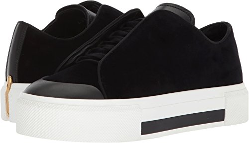 Alexander McQueen Women's Low Cut Lace-Up Sneaker Black/Black/Black/Black/Gold 35 M EU