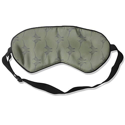 Pheasant Silk - Longnankejilifeaa Sleep Eyes Masks Covers Pheasant Camo Green Silk Sleeping Blindfold Cute Adjustable Strap Eyeshade for Travelling Shift Work Night Noon Nap Yoga