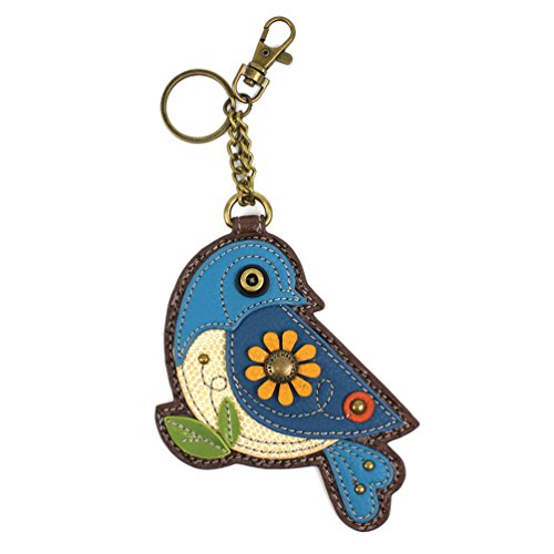 Chala Key Fob/Coin Purse - Blue Bird -