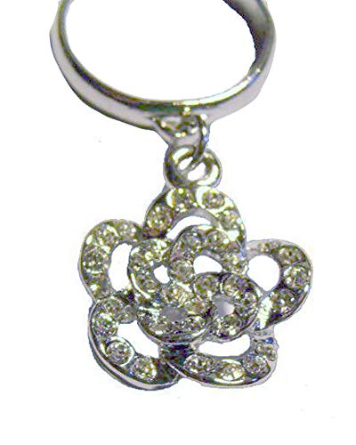 V G S Eternity Fashions Fashion Jewelry ~ Silvertone Flower with Clear Crystals Adjustable Toe Ring for Womeon (Style Toe Ring 018)