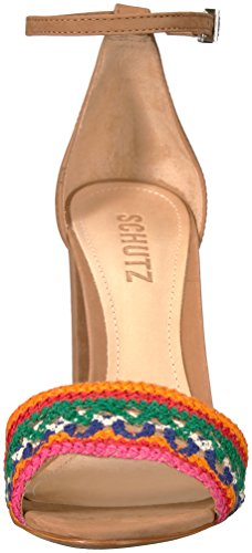 Schutz Women's Joannas Heeled Sandal Desert/Multicolor MacKeQcjn