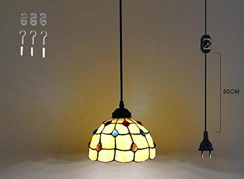 Lampadari E Plafoniere Tiffany : Fsliving plug in a mano ciondolo vetro tiffany lampadario