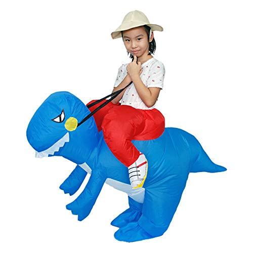 callm Inflatable Jumpsuit Costumes Halloween Christmas Party Carnival Funny Clothes Dinosaur T-Rex Cosplay (Blue) by callm