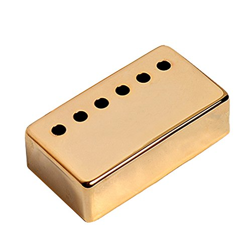 Kmise A7531 1 Piece Guitar Neck Pickup Cover 50mm Pole Spacing for Gibson Les Paul Guitar Replacement, Gold