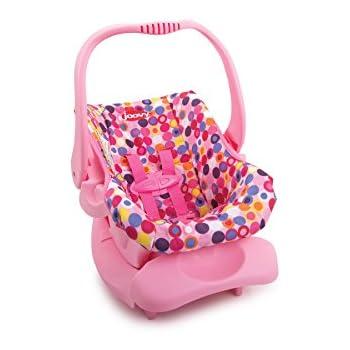 Amazon.com: Joovy Doll Toy Car Seat - Pink Dot: Toys & Games