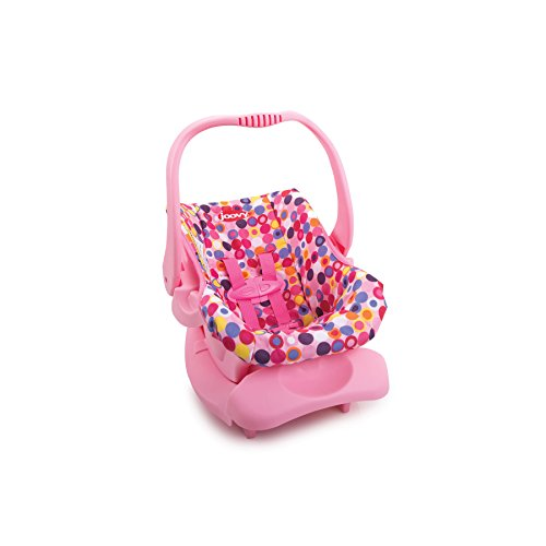 Joovy Doll Toy Car Seat - Pink Dot