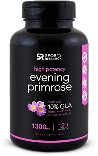 Cheap Evening Primrose Oil (1300mg) 120 Liquid Softgels ~ Cold-Pressed with No fillers or Artificial Ingredients ~ Non-GMO & Gluten Free