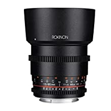 Rokinon DS85M-C Cine DS 85mm T1.5 AS IF UMC Full Frame Cine Lens for Canon EF 85-85mm Fixed Lens for Canon EF Cameras