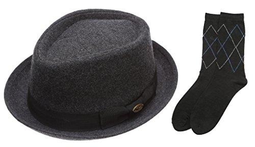 Wool Stripe Fedora Hat - 8