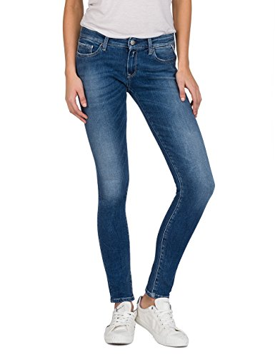 Replay Raissa, Jean Skinny Femme Bleu (Mid Blue Denim 9)