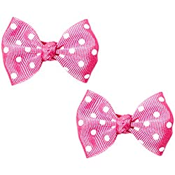 Small Polka Dot Grosgrain Bows