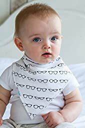 Baby Bandana Drool Bibs By Daulia, Unisex 7-Pack Absorbent Pure Cotton, Cute Baby Gift for Boys & Girls