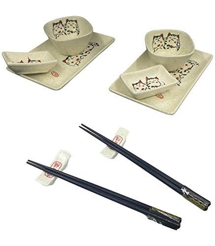 Set Sushi cerámica para 2personas