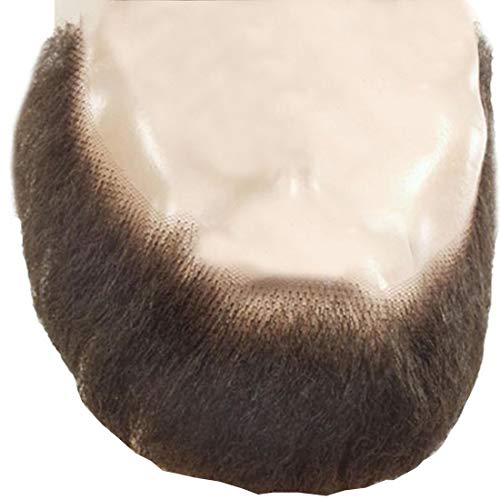 M55 Full Face Beard Color Brown - Lacey Wigs Human Hair Lace Backed Hand Made Fake Facial Amish Bundle Spirit Gum Remover, MaxWigs Care Guide (The Best Hair Color Remover)