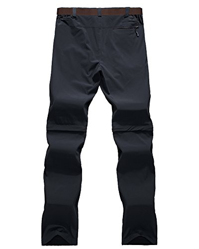 Asfixiado Hiking Stretch Pants Mens Convertible Quick Dry Lightweight Zip Off Outdoor Travel Safari Pants