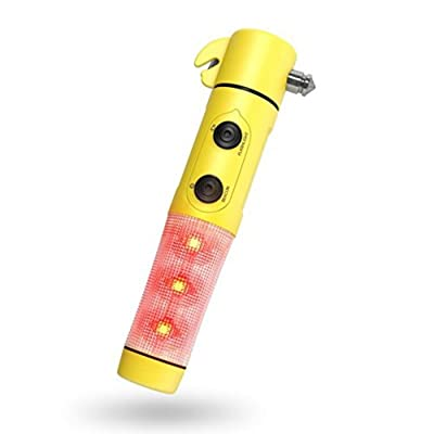 Candy86 4 in 1 Car Safety Hammer Lifesaving Flashlight Emergency Light Seatbelt Cutter Glass Breaker Life Saving Escape Emergency RescueTool