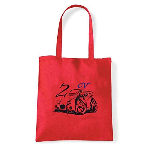 Pour Art T Femme shirt 2 Sac Porter bag cv Rouge À L'épaule rrYRd
