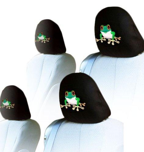 (Yupbizauto 4X Frog Logo Accessories Car Seat Headrest Covers)