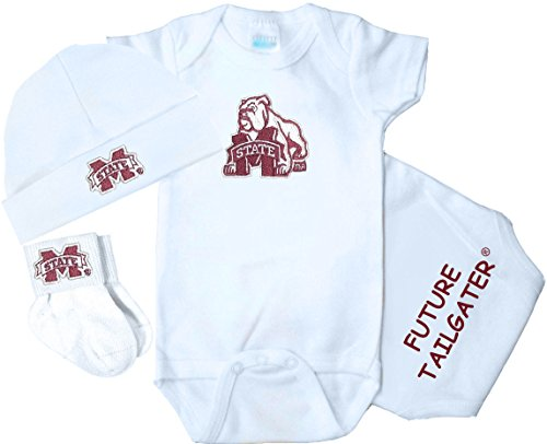 Future Tailgater Mississippi State Bulldogs 3 Piece Baby Clothing Set (Newborn)