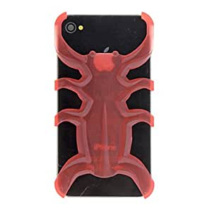Mini - Solid Color 3D Octopus Designed PC Hard Case for iPhone 4/4S , Color: Orange