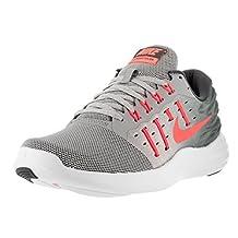 Nike Women's Lunarstelos Wlf Gry/Brght Mng Drk Gry Whit Running Shoe 7.5 Women US