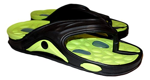 101 BEACH Mens Shock Absorbing Summer Flip Flop Waterproof Sandals Green