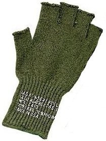- FINGERLESS WOOL GLOVES - OLIVE DRAB