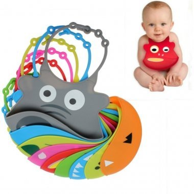 Silicone Baby Bibs- Waterproof Easy to Clean. No More Messy (8 Beautiful Models-ELEPHANT) By Baby's Matt