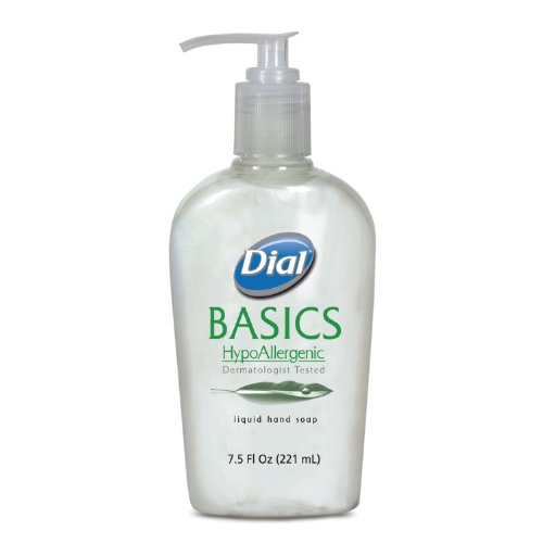 Dial 1747318 Basics Hypoallergenic Liquid Hand Soap with Pump, 7.5 Oz, (Case of 12) (Dial Hand Soap Bulk compare prices)