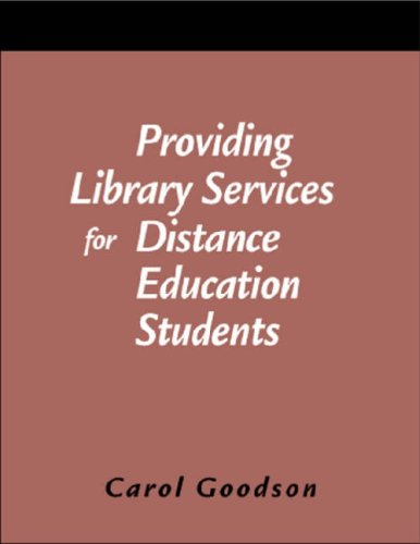 Download Providing Library Services for Distance Education Students: A How to Do It Manual (How to Do It Manuals for Librarians) pdf