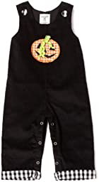 Mud Pie Baby-girls Infant Halloween Longall, Black/Orange, 12-18 Months