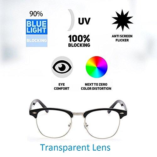 Cyxus Blue Light Blocking [Semi-Rimless] Computer Glasses, Anti UV Eye Strain Clear Lens Reading Video Eyewear, Men/Women by Cyxus (Image #8)