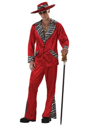 Pimp Adult Costume Red - Medium