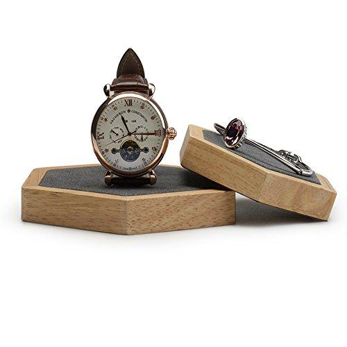 Stand Ring Display Pendant Jewelry - Oirlv 2 PCS Bracelet/Watch/Earrings/Pendant Display Stand Jewelry Showcase Holder(Rhombus Board Gray)
