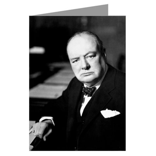 Single Sir Winston Churchill; Leader,Writer,Artist Historian and 20th Century Icon; Greeting Card