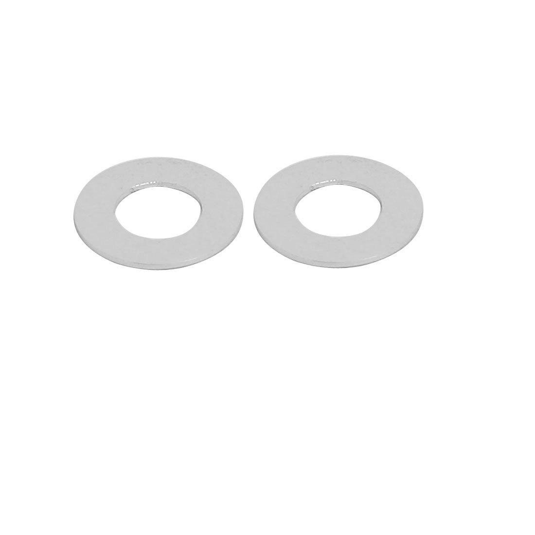 Sourcingmap/® 10X 0.25mm Dicke M3 Silber Aluminiumlegierung Unterlegscheiben Schraube Scheibe de