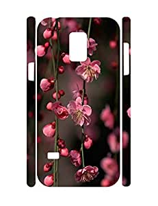 Girly Design Floral Print Slim Cell Phone Skin Case for Samsung Galaxy S5 Mini SM-G800