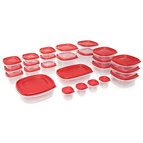 (Rubbermaid Easy Find Lids Food Storage Containers, Racer Red, 42-Piece Set 1880801)