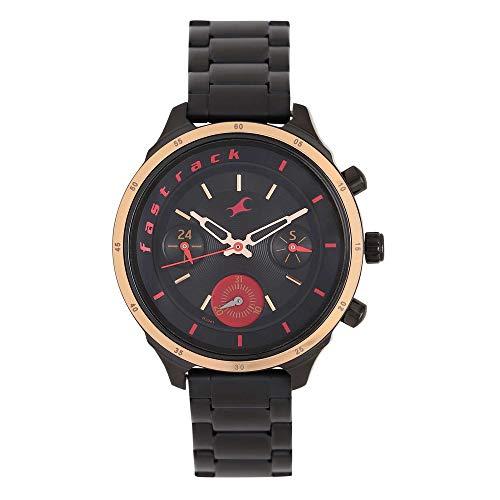 Fastrack Metallic Multi Function Black Women's Watch