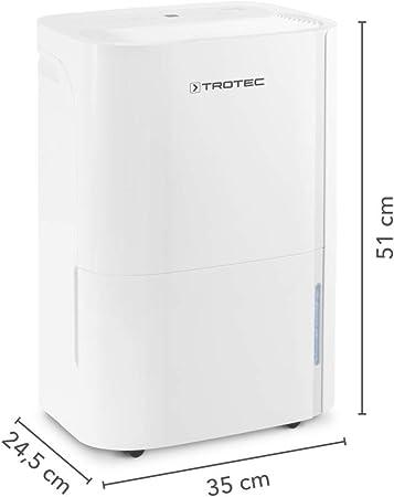 TROTEC Deshumidificador eléctrico TTK 54 E, 16L/24h, Filtro de Aire, Secado de Ropa, 430 W, Indicador LED, Depósito 3L, Portátil, Ruedas, Blanco: Amazon.es: Bricolaje ...