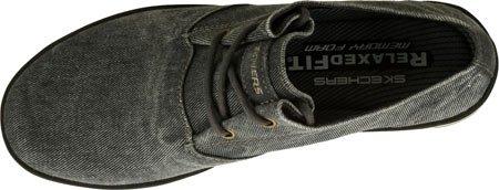 Hombres Skechers Ajuste cómodo Spencer Leandro 64077 Oxford zapato Black/Gray